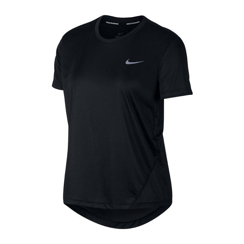 Nike Miller T-Shirt Running Damen Schwarz F010