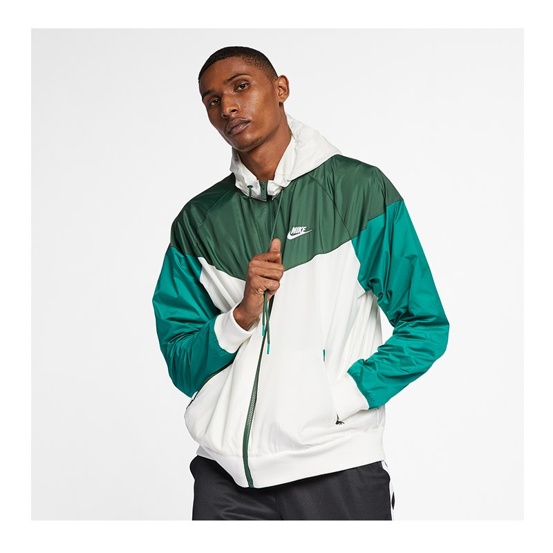 look out for speical offer undefeated x Nike Windrunner Kapuzenjacke Weiss Grün F133
