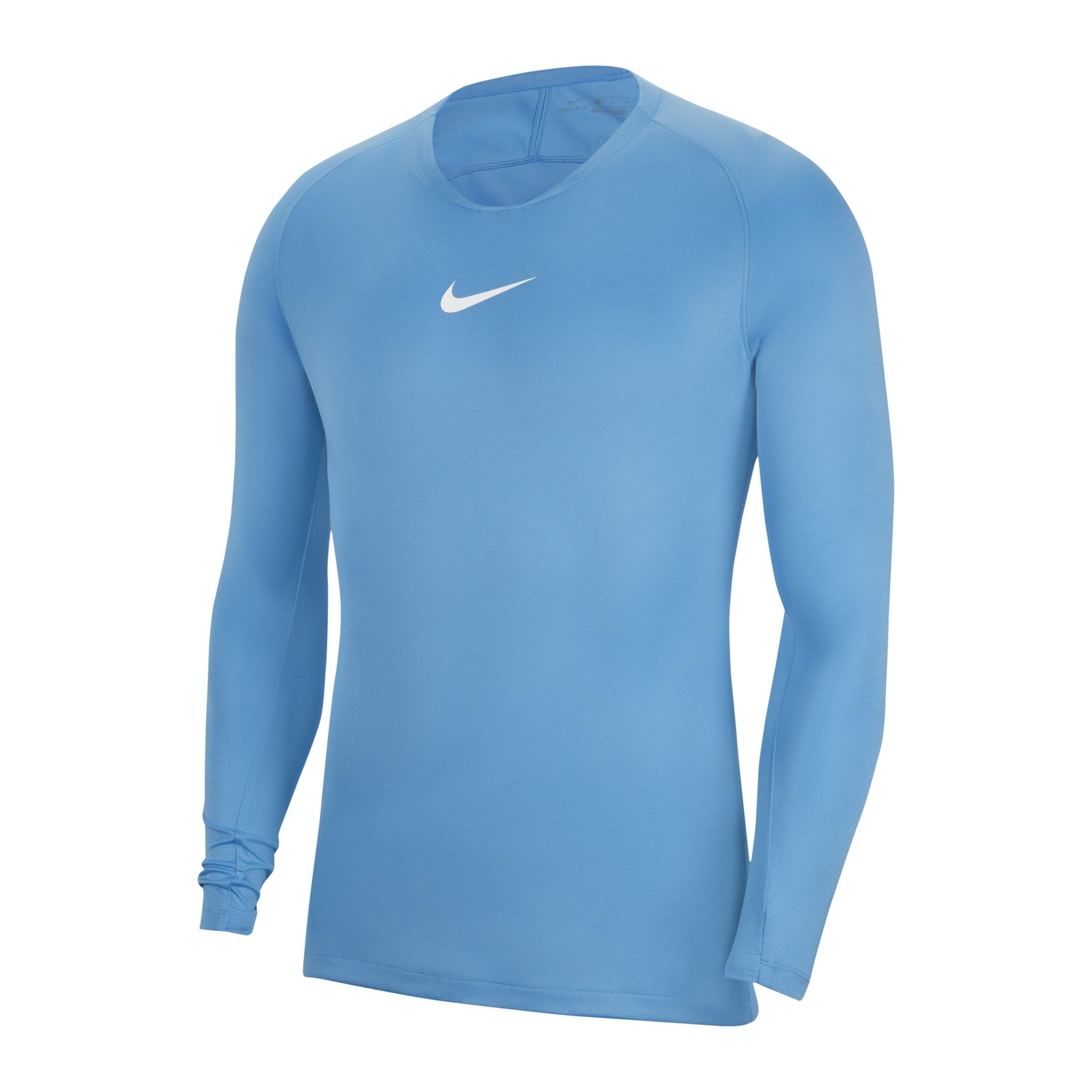Nike Park First Layer Top langarm Hellblau F412 - blau