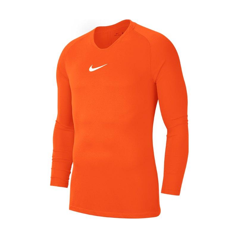 Nike Park First Layer Top langarm Orange F819 - orange