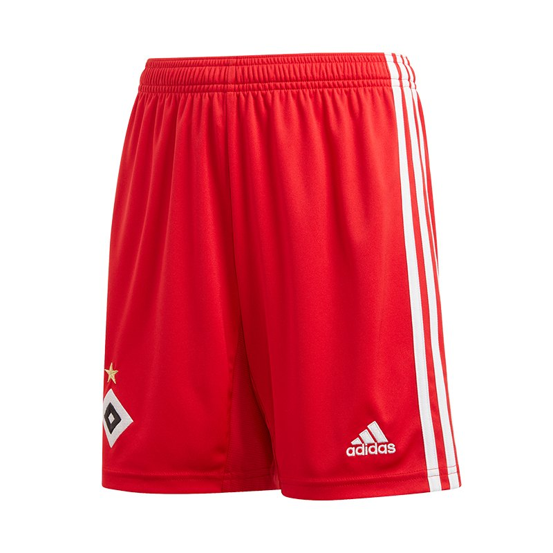 adidas Hamburger SV Short Home 20192020 Rot Weiss