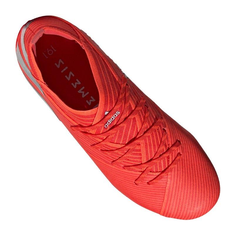 327b1ba2e8e7 ... adidas NEMEZIZ 19.1 FG J Kids Rot Silber - Rot ...