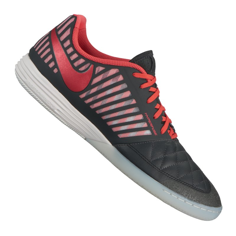 Nike Lunar Gato II Futsal IC Grau Rot F080