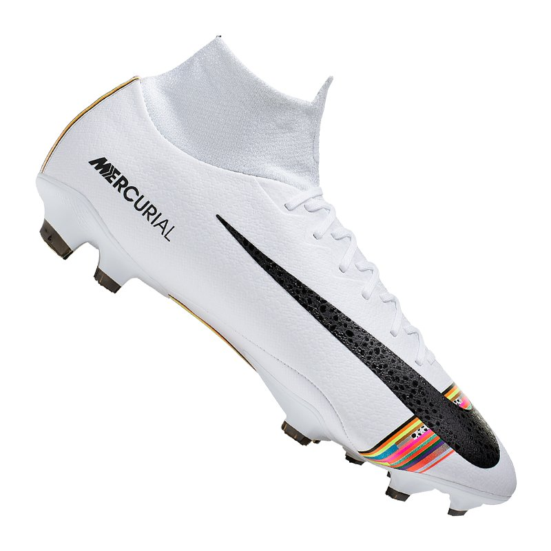 Nike Mercurial Superfly VI Pro CR7 FG Weiss F009 - weiss
