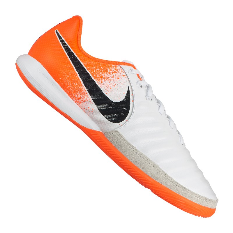 Nike Tiempo LegendX VII Pro IC Weiss Orange F118 - Weiss