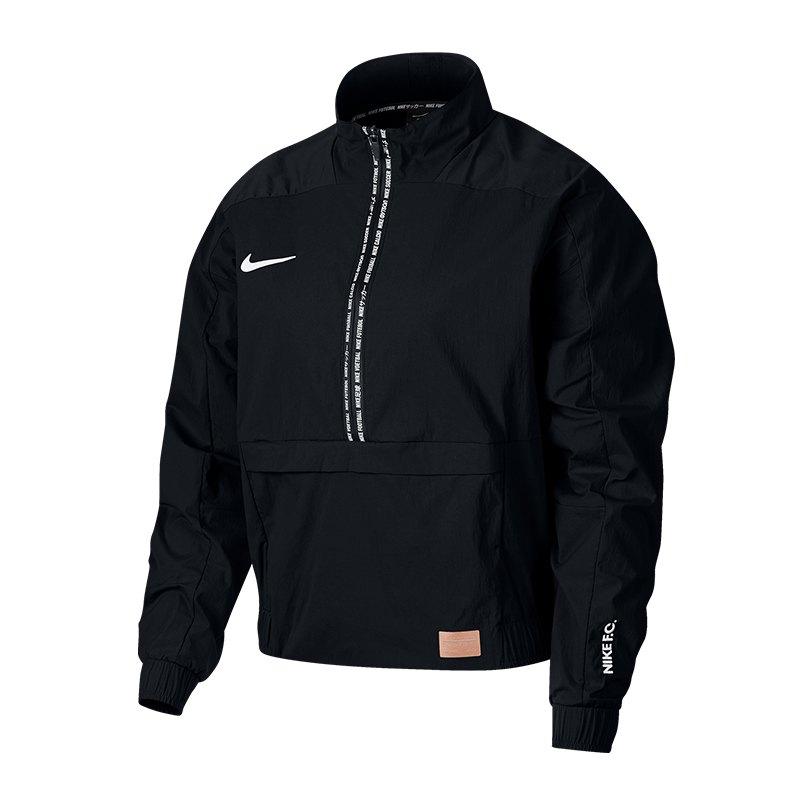 brand new 30894 6e7d0 Nike F.C. Crop Jacket Jacke Damen Schwarz F010