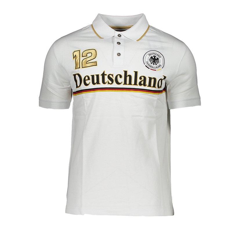 heiß-verkaufende Mode Turnschuhe für billige beste Sammlung DFB Deutschland Fan Club Poloshirt Weiss
