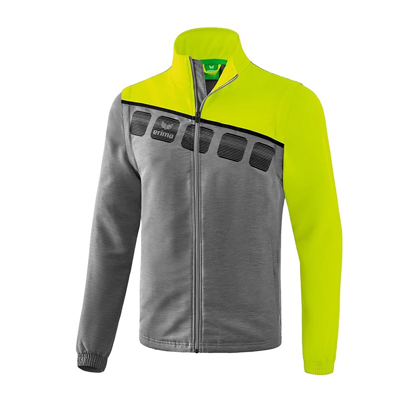 Erima 5-C Jacke Mit Abnehmbaren Ärmeln Grau Grün
