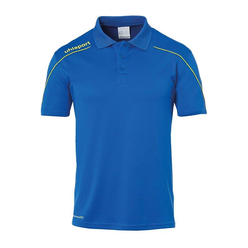 Uhlsport Stream 22 Poloshirt Blau Gelb F14 - Blau