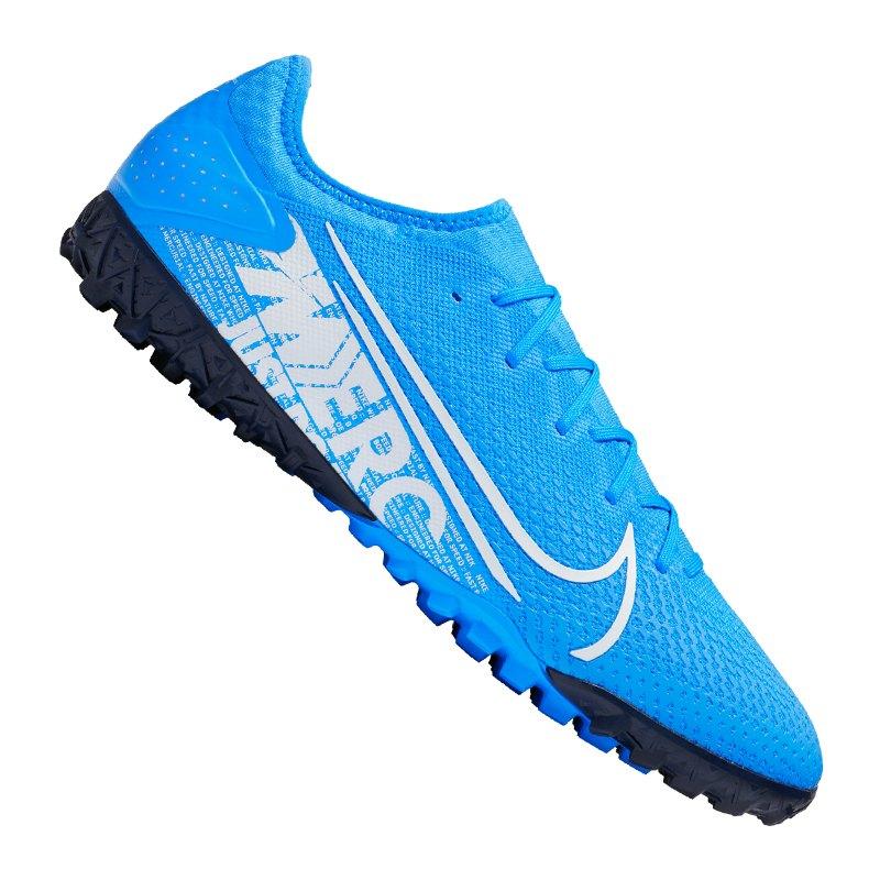 Nike Mercurial Vapor XIII Pro TF Blau Weiss F414 - blau