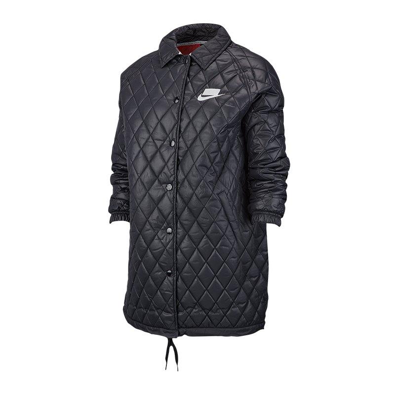 the latest eee2e fe483 Nike Quilted Jacket Jacke Damen Schwarz F010
