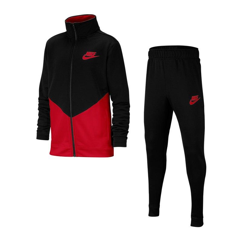 am billigsten Auschecken Farbbrillanz Nike Tracksuit Trainingsanzug Kids Schwarz F010