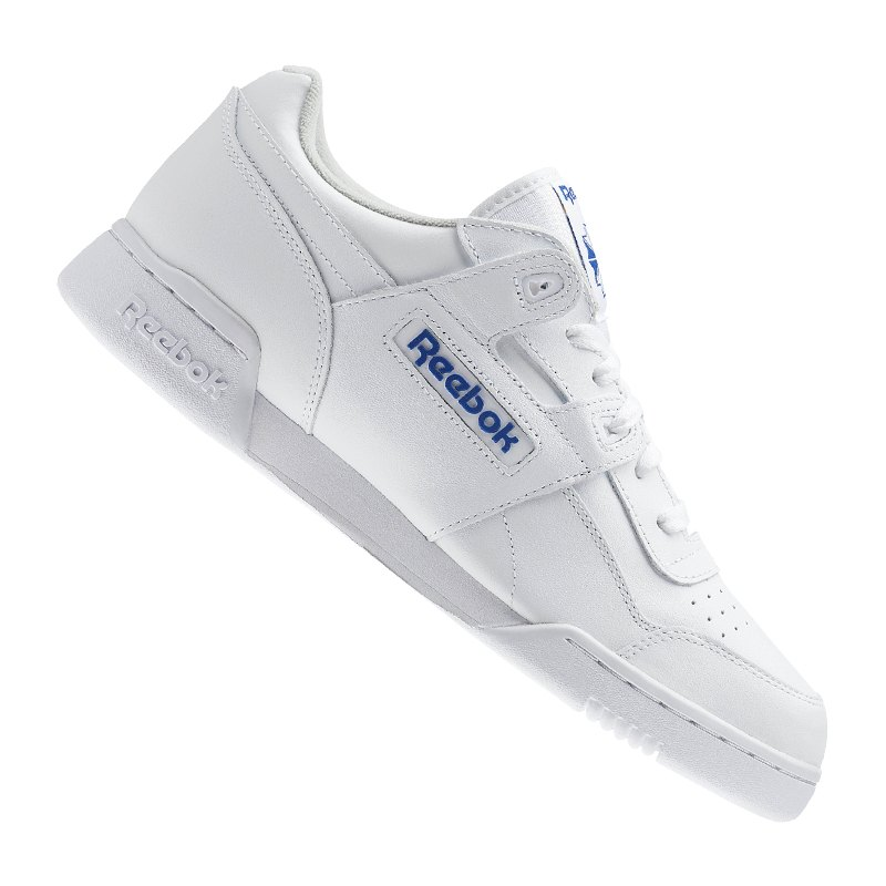 erster Blick Sonderangebot das Neueste Reebok Workout Plus Sneaker Weiss Blau
