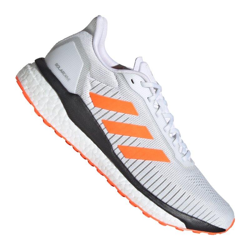 adidas Solar Drive 19 Running Weiss Orange - weiss