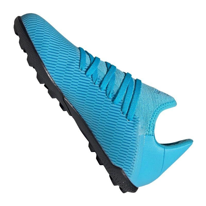 adidas X 19.3 TF J Kids Blau Schwarz
