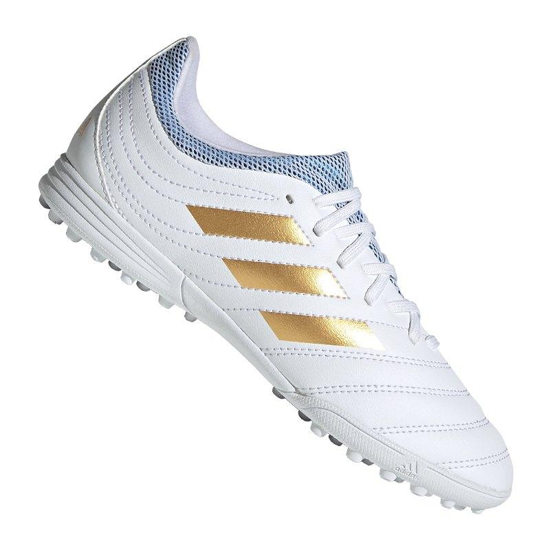 adidas COPA 19.3 TF Kids Weiss Gold