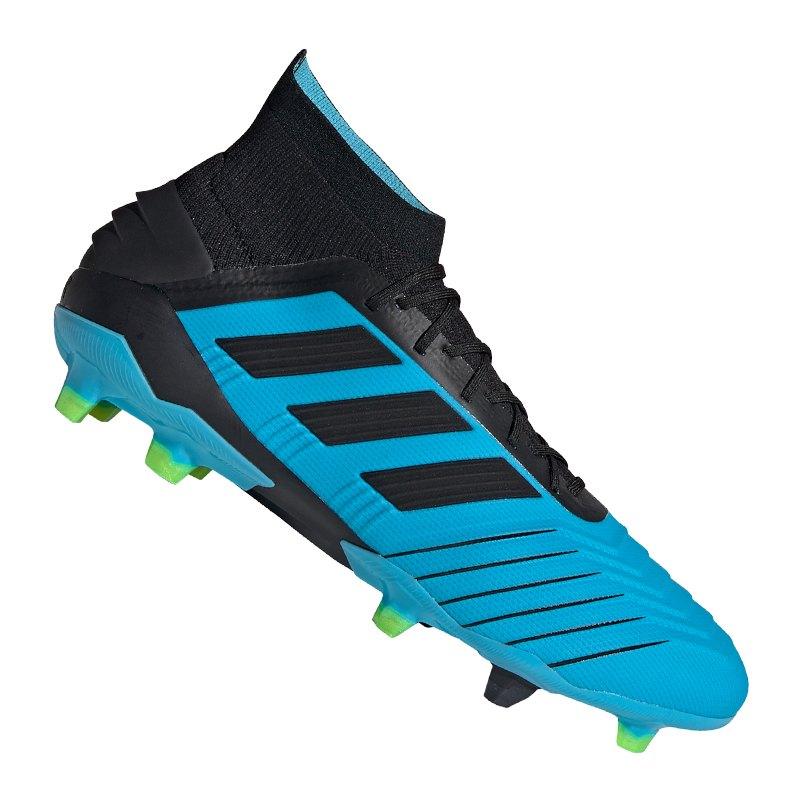 adidas Predator 19.1 FG Blau Schwarz - blau