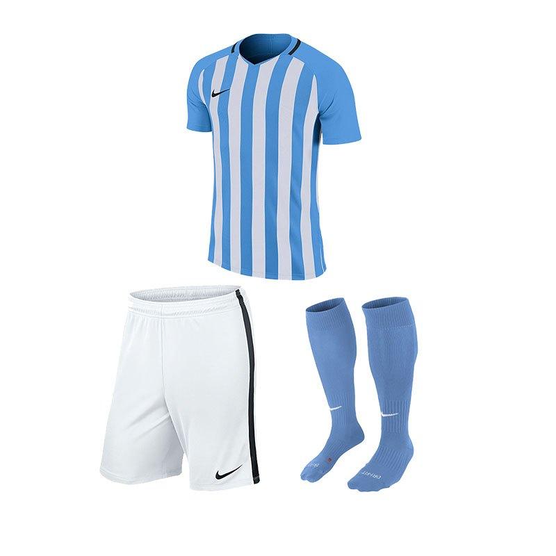 Nike Striped Division III Trikotset kurzarm F412 - blau