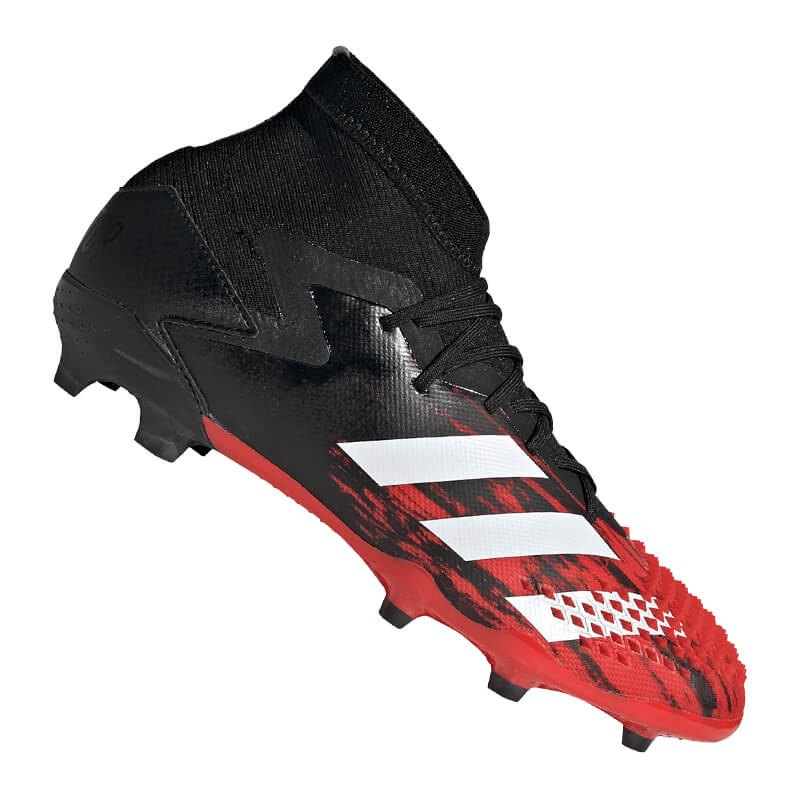 adidas Predator 20 FG J Kids Schwarz Rot - schwarz