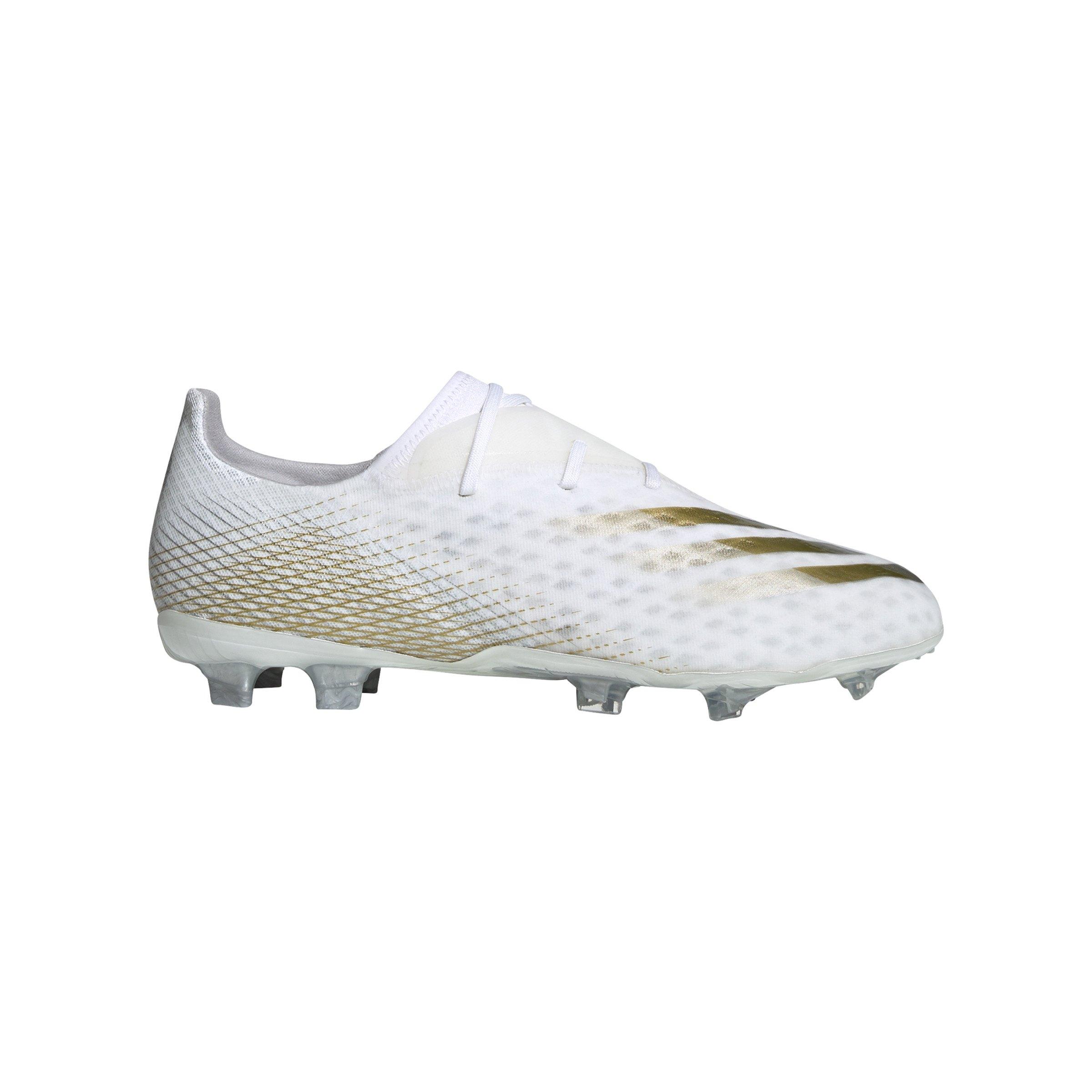 adidas X GHOSTED.2 FG Inflight Weiss Gold Schwarz - weiss