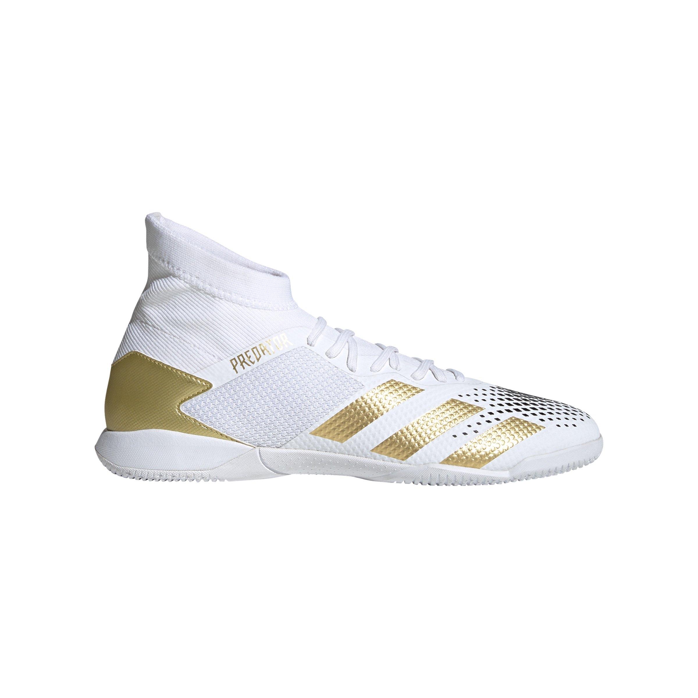 adidas Predator Inflight 20.3 IN Halle Weiss Gold - weiss