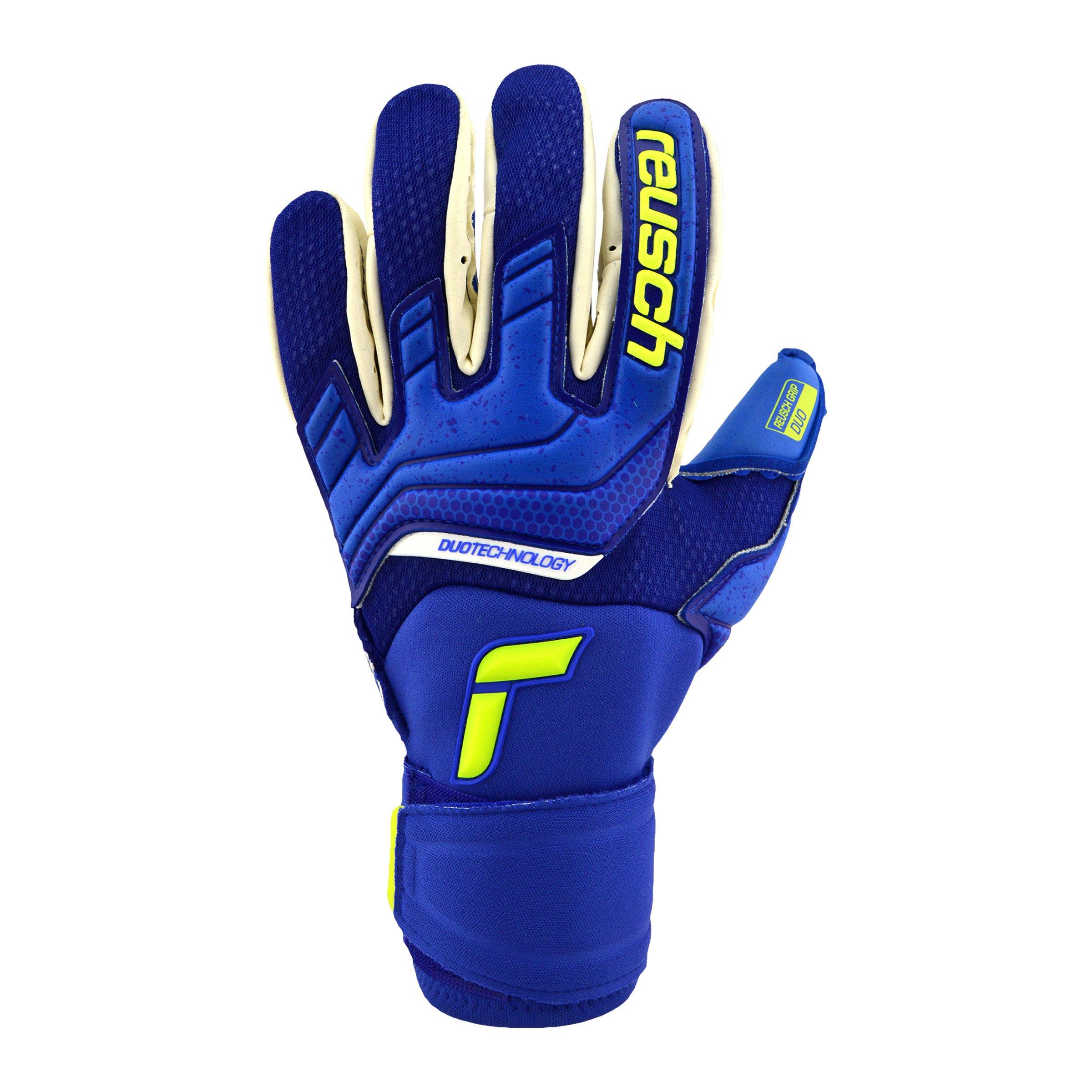 Reusch Attrakt Duo TW-Handschuh Blau F4949 - gelb