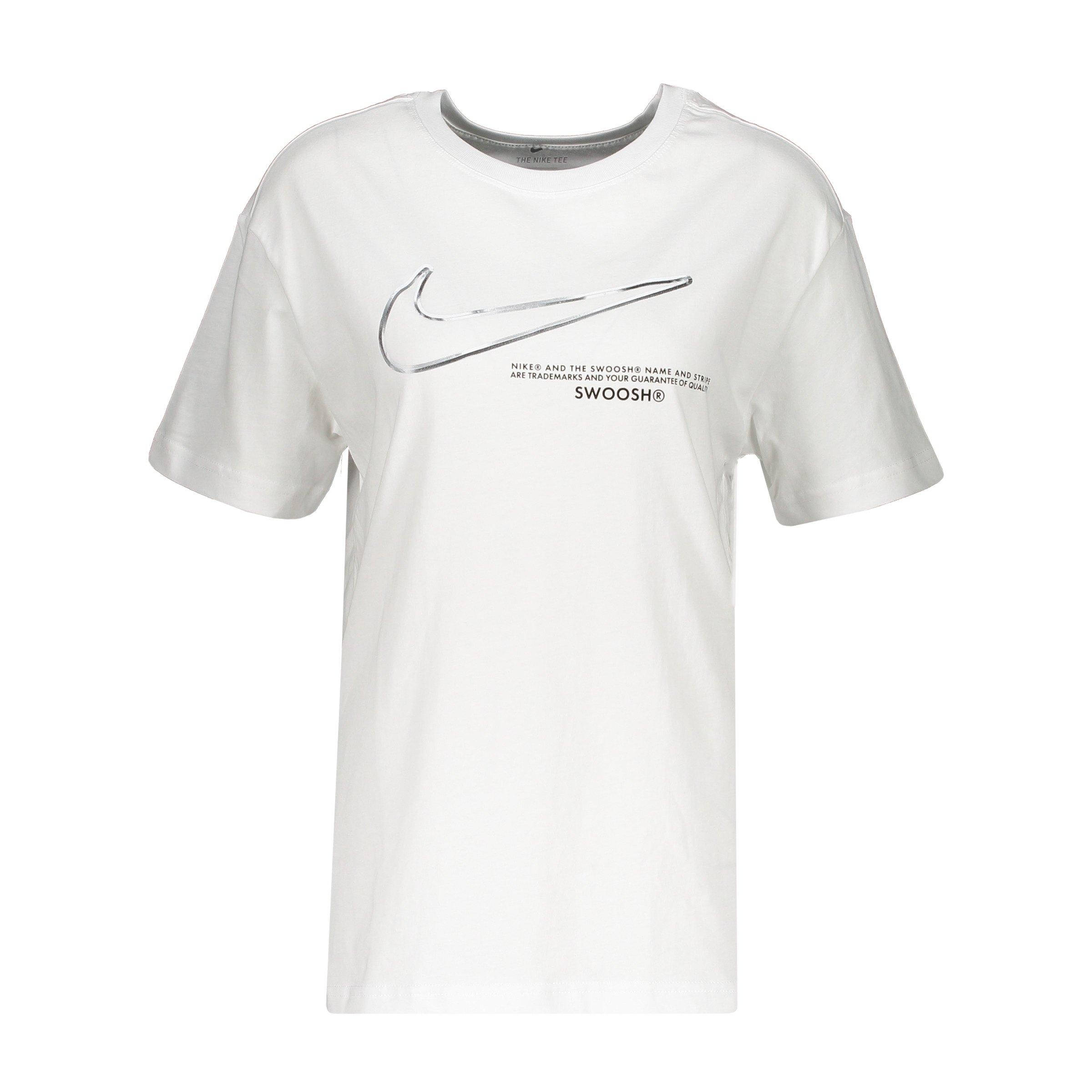 Nike Swoosh Boyfried T-Shirt Damen Weiss F100 weiss