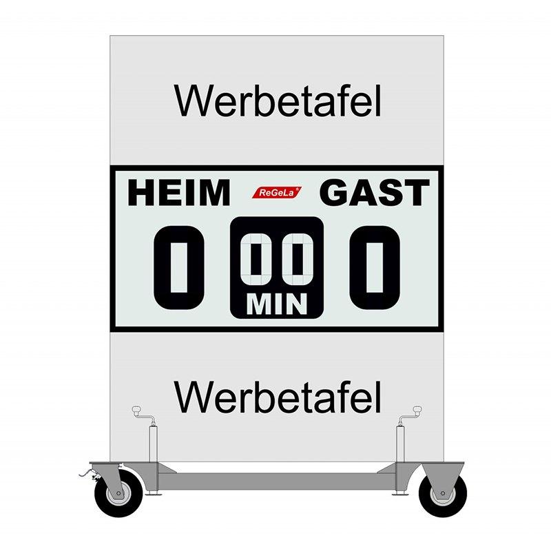 ReGeLa Fussball-Anzeigetafel M-FAS 100/2 | - weiss