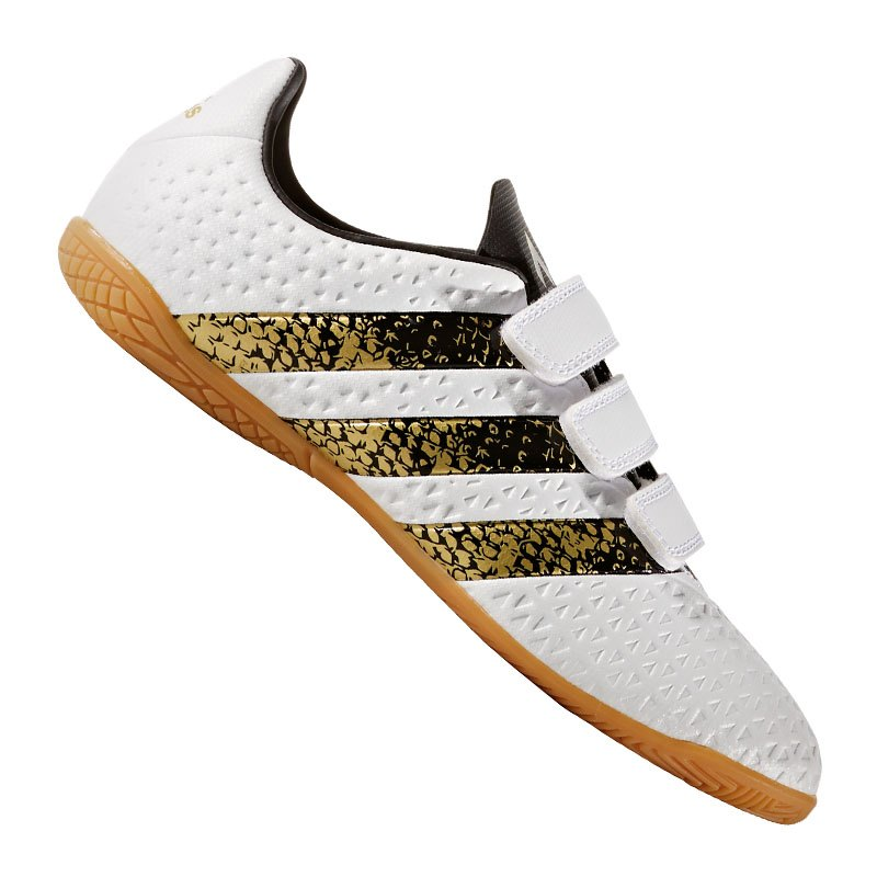 adidas fu ballschuhe ace 16 4 in halle kids h l wei gold. Black Bedroom Furniture Sets. Home Design Ideas