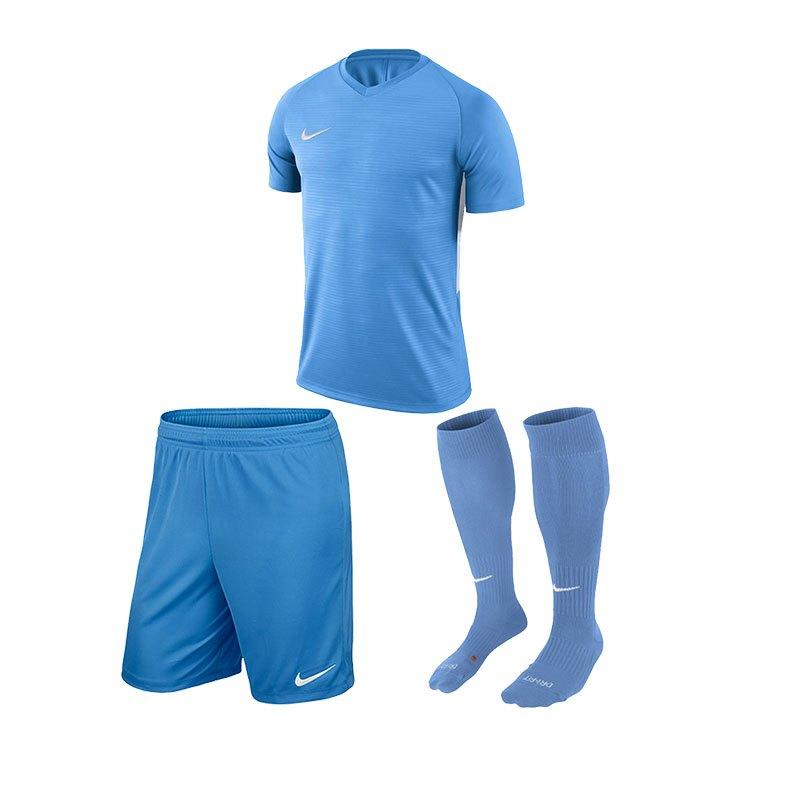 Nike Tiempo Premier Trikotset Kids Blau F412 - blau