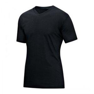 jako-v-neck-t-shirt-schwarz-f08-v-ausschnitt-kurzarmtop-sportbekleidung-textilien-men-herren-maenner-6113.jpg