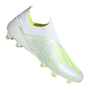 low priced 40d1d 213d7 adidas-x-18-fg-weiss-gelb-fussballschuhe-nocken-