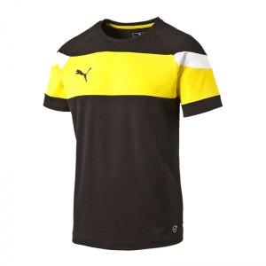 puma-spirit-ii-trainingsshirt-kids-schwarz-gelb-fussball-teamsport-textil-t-shirts-654655.png