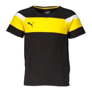 puma-spirit-ii-leisure-t-shirt-kids-schwarz-gelb-fussball-teamsport-textil-t-shirts-654659.png