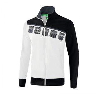 erima-5-c-praesentationsjacke-weiss-schwarz-fussball-teamsport-textil-jacken-1011903.png