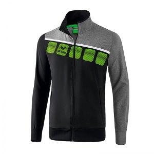 erima-5-c-praesentationsjacke-schwarz-grau-fussball-teamsport-textil-jacken-1011904.png