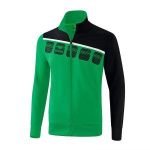 erima-5-c-praesentationsjacke-gruen-schwarz-fussball-teamsport-textil-jacken-1011905.png