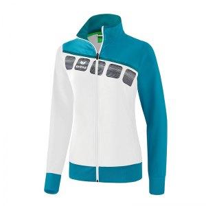 erima-5-c-praesentationsjacke-damen-weiss-blau-fussball-teamsport-textil-jacken-1011918.png