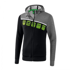 erima-5-c-trainingsjacke-mit-kapuze-schwarz-grau-fussball-teamsport-textil-jacken-1031904.png