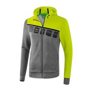 erima-5-c-trainingsjacke-mit-kapuze-grau-gruen-fussball-teamsport-textil-jacken-1031908.jpg