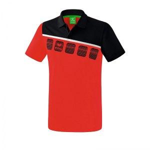 erima-5-c-poloshirt-rot-schwarz-fussball-teamsport-textil-poloshirts-1111902.png