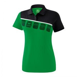 erima-5-c-poloshirt-damen-gruen-schwarz-fussball-teamsport-textil-poloshirts-1111915.png