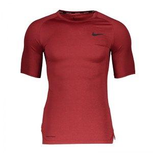 nike-pro-trainingsshirt-kurzarm-rot-f681-underwear-kurzarm-bv5631.png