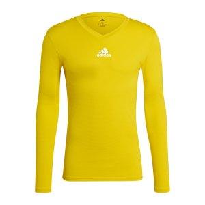 adidas-team-base-top-langarm-gelb-gn7506-underwear_front.png