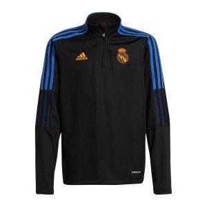 adidas-real-madrid-halfzip-sweatshirt-kids-schwarz-gr4351-fan-shop_front.png