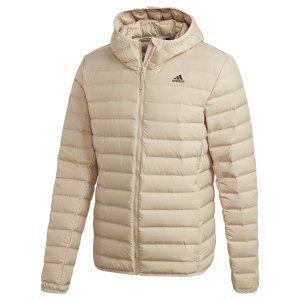 adidas-varilite-soft-daune-kapuzenjacke-beige-ge5878-lifestyle_front.png